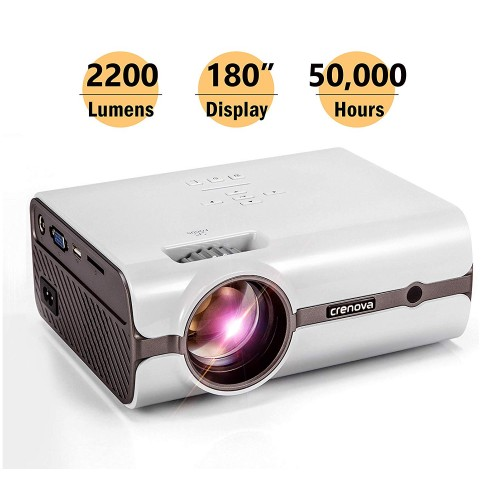 Crenova XPE496 Projector – 2200 Lumens (+80%) Home Projector – Portable Video Projector