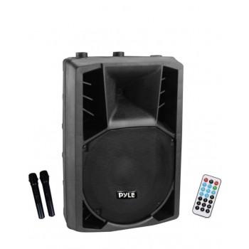 "PL-2215IWS BLEUTOOTH 15"" PA speaker  amplifié avec 2  micro sans fills"